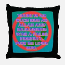 3-THERE IS NO SUCH GOD AS ALLAH AND M Throw Pillow