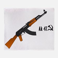 AK-47 angle Throw Blanket