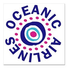 "oceanicairlinesround Square Car Magnet 3"" x 3"""