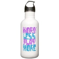 Work Less Play More Sports Water Bottle