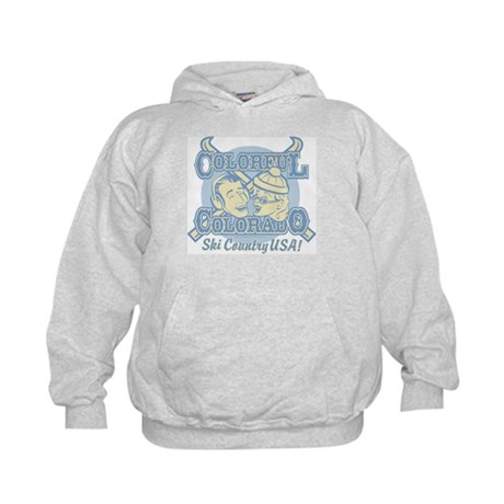 Kids Hoodie Colorful Colorado Ski Country USA