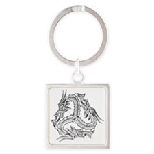 celtic_dragon_trans Square Keychain
