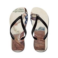 WW I HOME FRONT SOW SEEDS VICTORY Flip Flops