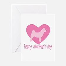 Akita Valentine Greeting Cards (Pk of 10)