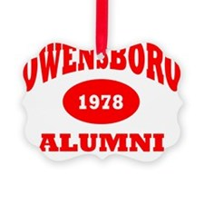 Owensboro 1978 Alumni red with wh Ornament