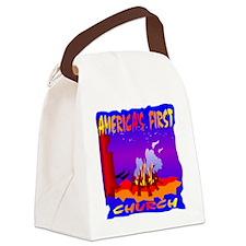 blk_Americas_First_Church Canvas Lunch Bag