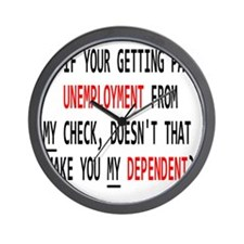 UNEMPLOYMENT Wall Clock