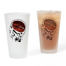 Coffee For Brains Drinking Glass