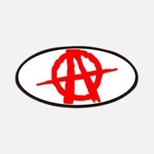 Anarchy Symbol Red Patches