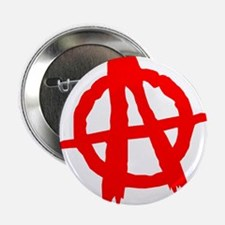 "Anarchy Symbol Red 2.25"" Button"