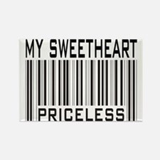 My Sweetheart Priceless Barcode Rectangle Magnet