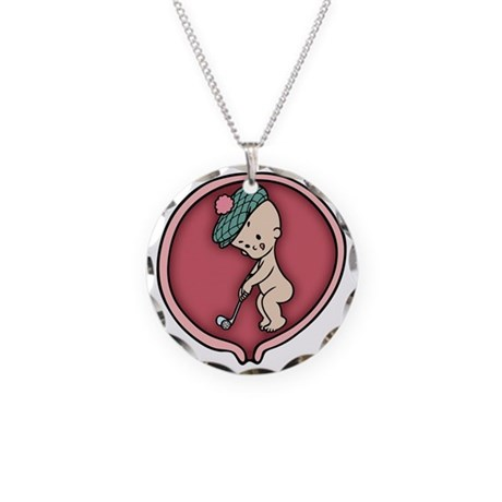 golf-womb-T Necklace Circle Charm
