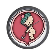 golf-womb-T Wall Clock