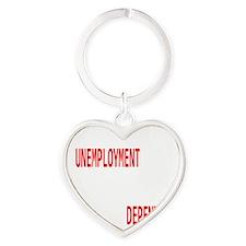 UNEMPLOYMENT.dark Heart Keychain