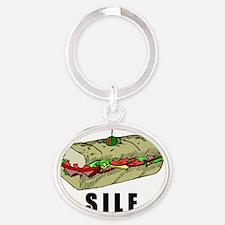 SILF_BLACK Oval Keychain