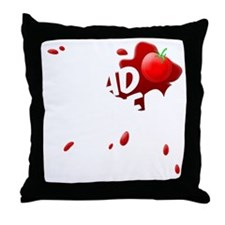 i hate salad dodgers Throw Pillow