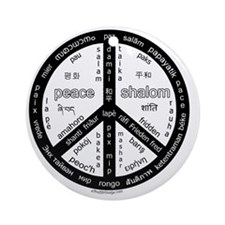 black-peace_10x10_world_exp Round Ornament