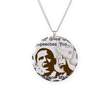 hitler gave great speeches t Necklace Circle Charm