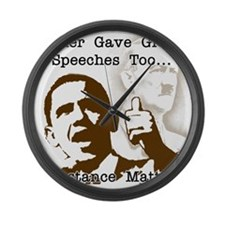 hitler gave great speeches too Large Wall Clock