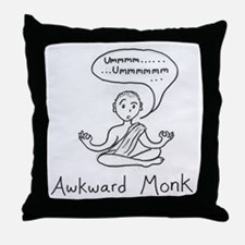 awkward monk Throw Pillow