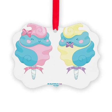 Kawaii Cotton Candy Couple Cafe Picture Ornament