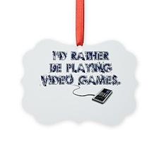 PlayingVidGames Picture Ornament