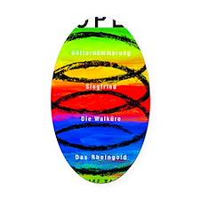 Spiral-shirt-bag Oval Car Magnet