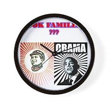 2-LOOK FAMILAR Wall Clock