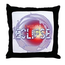 twilight eclipse dark background 2 co Throw Pillow