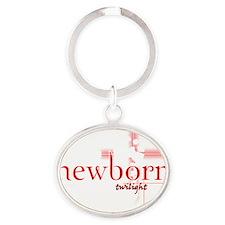 NEWBORN FOR BLACK copy Oval Keychain