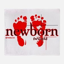 twilight newborn red from twibaby.co Throw Blanket