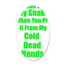 2-dead hands Oval Car Magnet