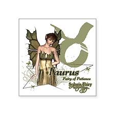 "SFA_Taurus_3x3_teddybear Square Sticker 3"" x 3"""