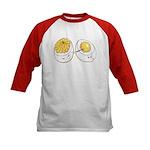 Deviled Eggs Kids Baseball Jersey