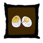 Deviled Eggs Throw Pillow