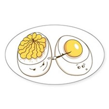 Deviled Eggs Oval Decal