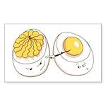Deviled Eggs Rectangle Sticker