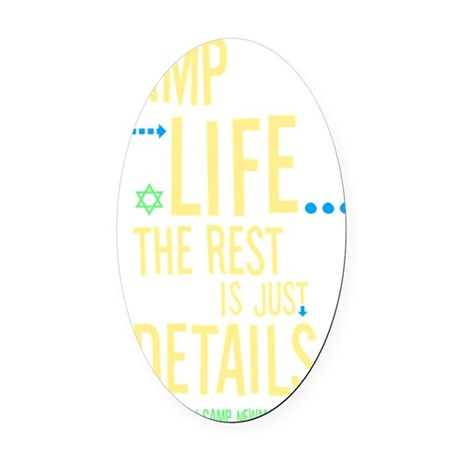 Camp-Is-Life_reverse Oval Car Magnet