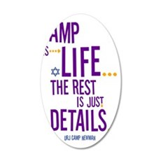 Camp-Is-Life 35x21 Oval Wall Decal