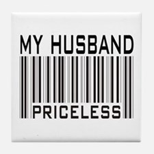 My Husband  Priceless Barcode Tile Coaster