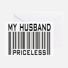 My Husband  Priceless Barcode Greeting Cards (Pack