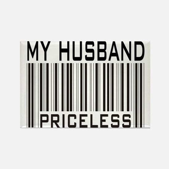 My Husband Priceless Barcode Rectangle Magnet