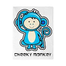 blue monkey icon Twin Duvet