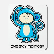 blue monkey icon Mousepad