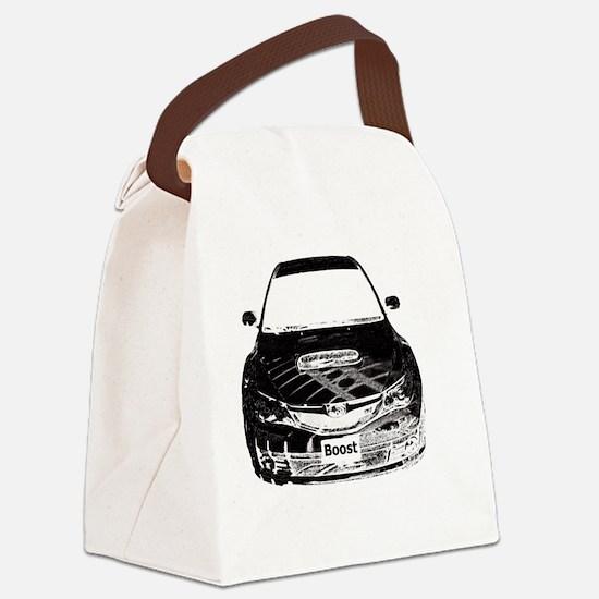 Alex STi - Charcoal Sketch - Tran Canvas Lunch Bag