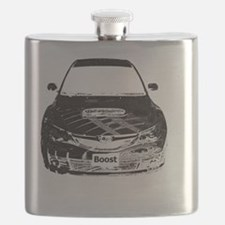 Alex STi - Charcoal Sketch - Transparent -  Flask