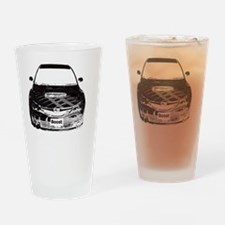 Alex STi - Charcoal Sketch - Transp Drinking Glass