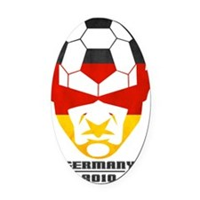 Soccer2010 -Germany 1cl Oval Car Magnet