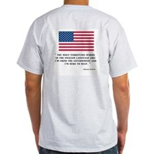 REAGANS VIEW ON GOVERNMENT Ash Grey T-Shirt