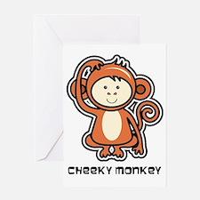 monkey icon Greeting Card